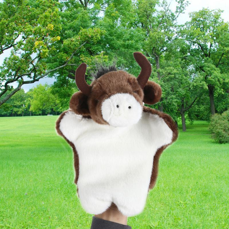 New Arrival Animal Hand Puppet Toys Plush Puppets Sloth Buffalo