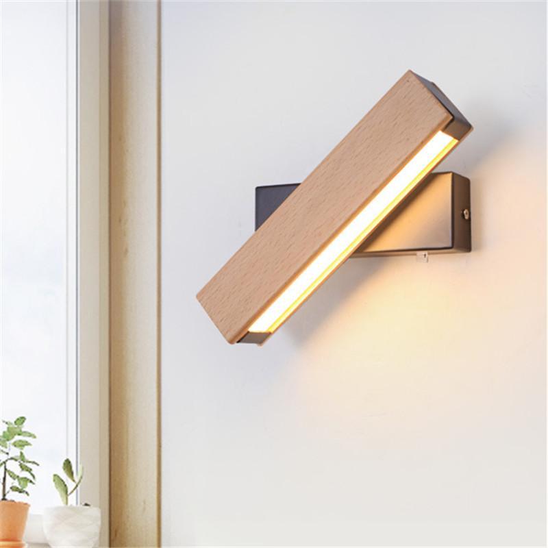 Großhandel Nordischen Stil Holz Wand LED Lampe Nachttisch Badezimmer ...