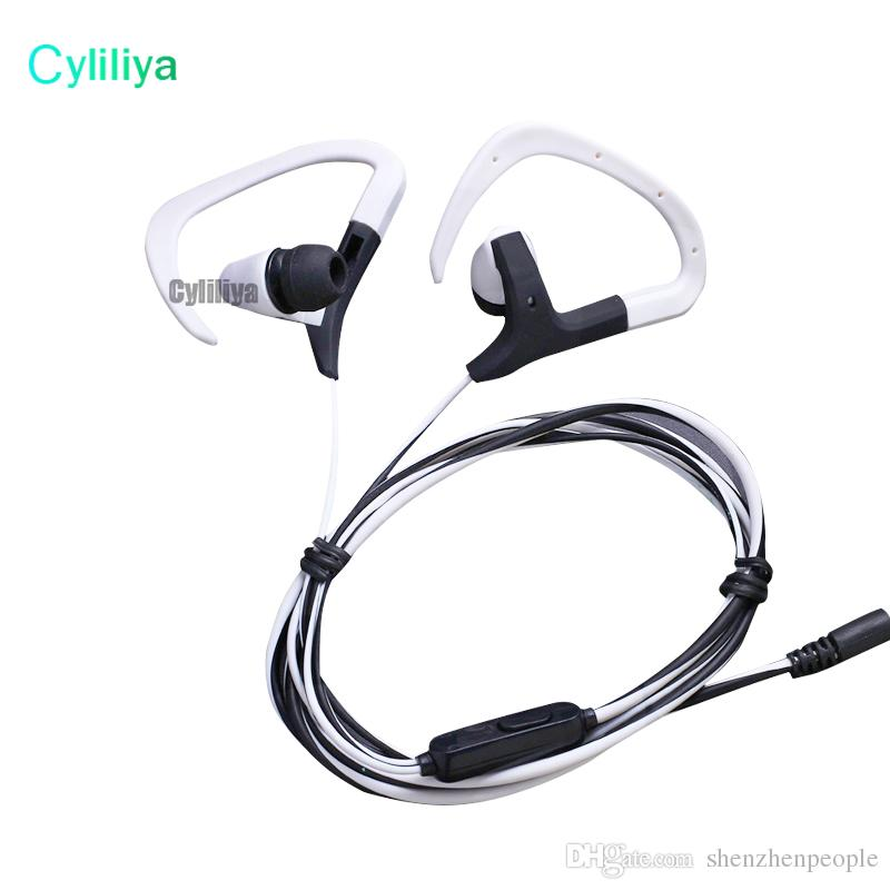 2017 Ear Hook Sport Earphone Bass Music Headset handsfree Headphone With Mic 3.5mm Earbuds For All Mobile Phone MP3 Running Headset