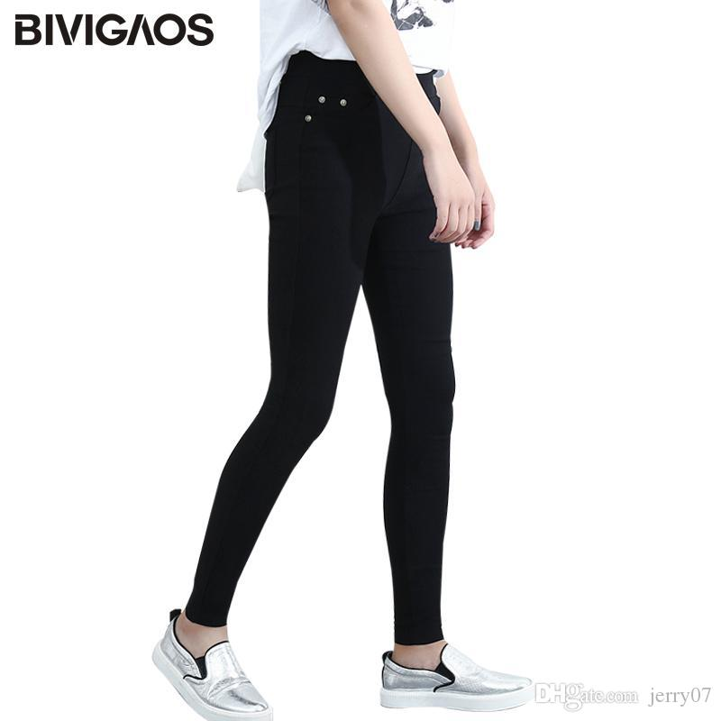c0ce7f61162dd1 Fashion Womens Spring Casual Skinny Jeans Leggings Woven Slim High ...