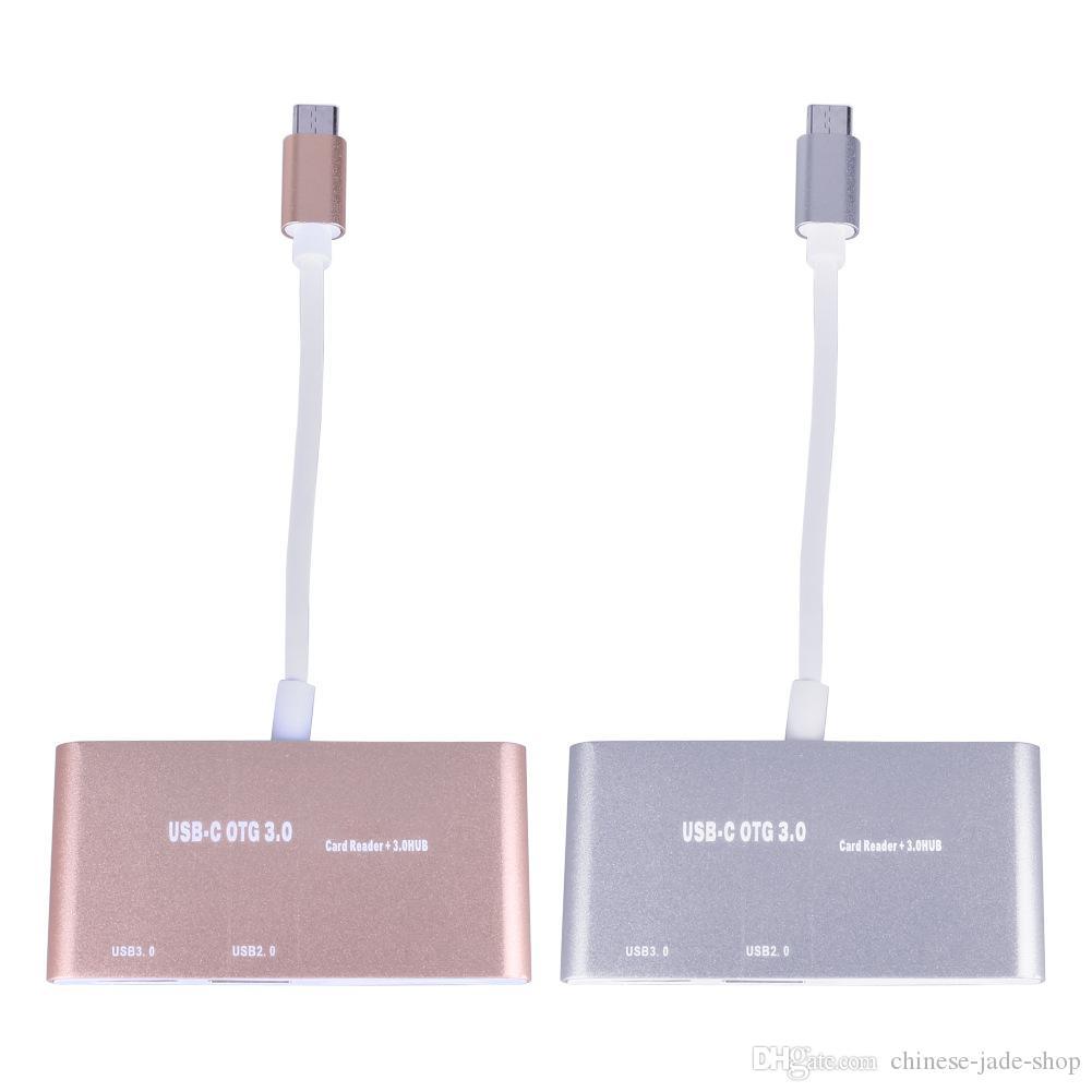 USB 3.1 Type-C OTG HUB SD TF-kaartlezer Combo voor MacBook Air Pro Laptop /