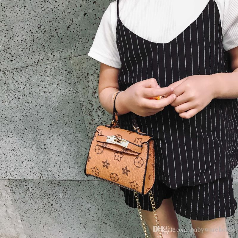 2018 New Kids Handbags Fashion Designer Kids Mini Purse Shoulder Bags Teenager Girls Messenger Bags Cute Christmas Gifts For Little Girls
