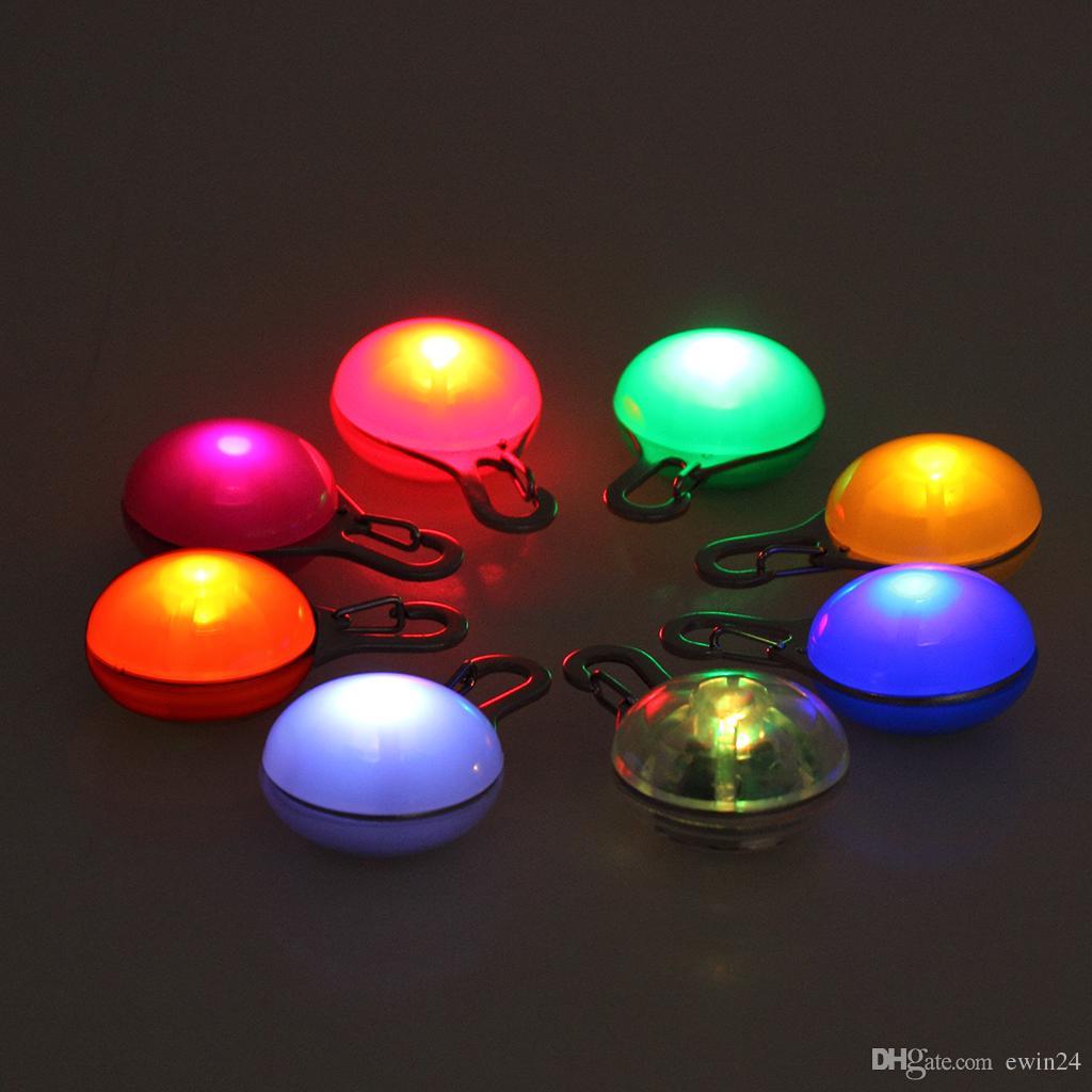 Hund Katze Hundehalsband Licht wasserdichte LED Hundehalsband Sicherheit Nacht Walking Lights Sortierte Farben Großhandel