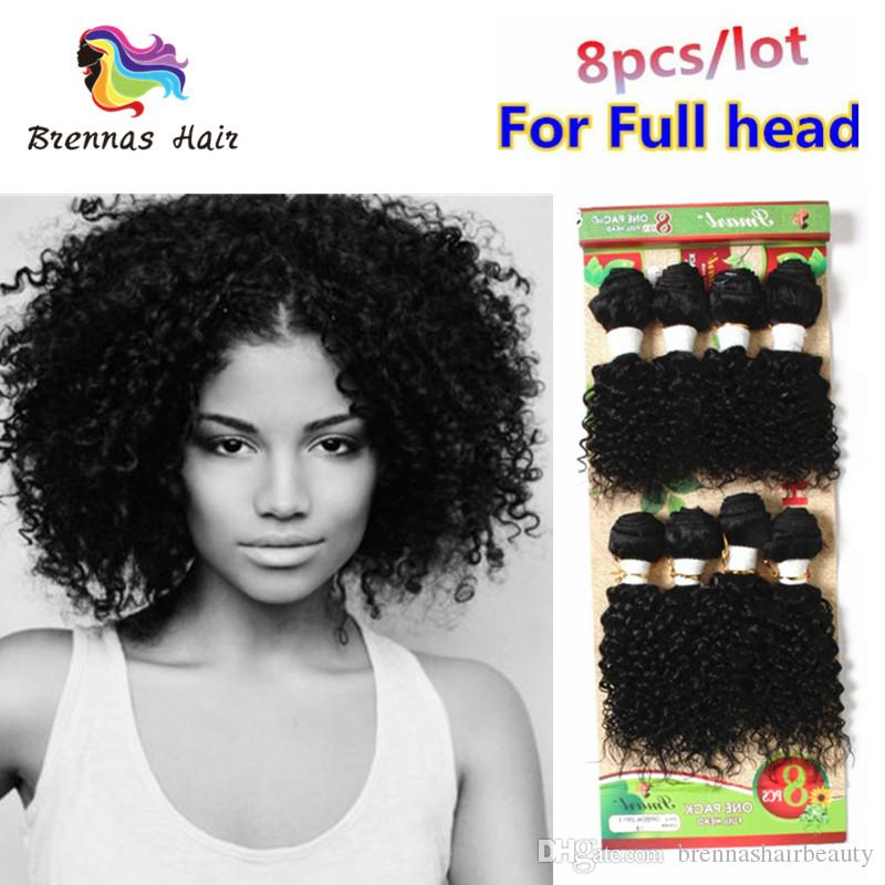2375fbad5ff4be Cheap Remy Human Hair Sew In Hair Weaving Bundles Ombre Black Jerry Curl