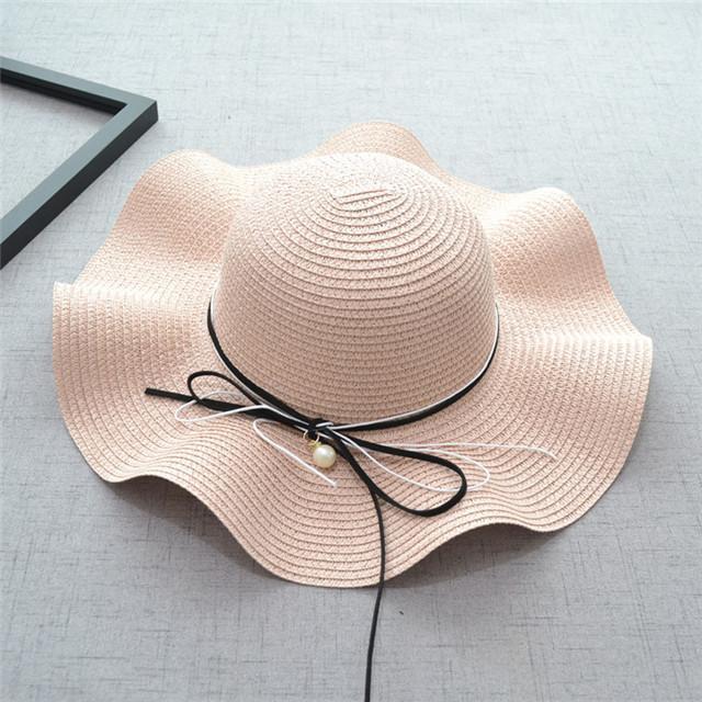 1670a271 2018 Summer New Fashion Straw Hat Women Beach Sun Hats Bow Wide Brim Caps  Lady Headwear Hat Winter Hats Hats For Men From Fengyune, $25.31| DHgate.Com