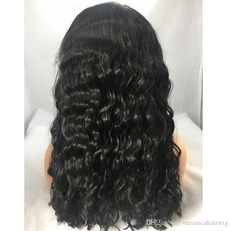 Fashion Brown Black Curly Wavy Lace Front Long Wigs with baby hair Heat Resistant Cheap Gluelese Synthetic Lace Front Wigs for Black Women
