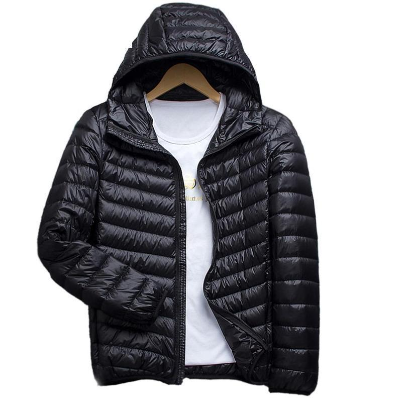 9a31c9cb2fb 2019 Winter Jacket Men Packable Hoodie Down Jacket Winter Hooded Puffer  Outerwear Coat Casual Breathable Down Parka Jackets Male From Manxinxin
