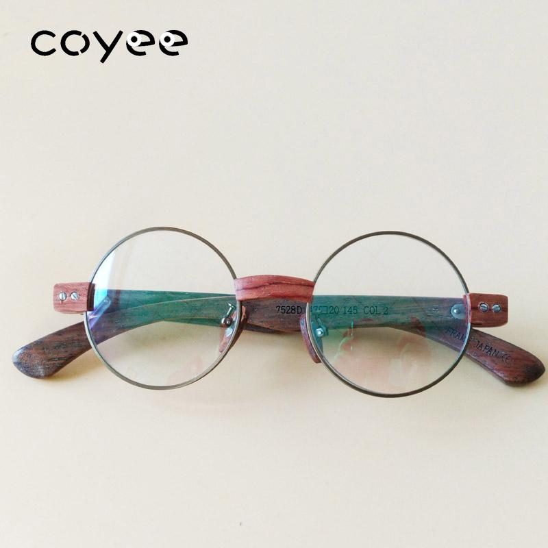 c22bb37d5e Coyee Handmade Woody Vintage Retro Eyeglass Frame Full-rim Glasses Unisex  Dark Gold Frames Round Full-rim Spectacles Eyeware Eyewear Frames Cheap  Eyewear ...