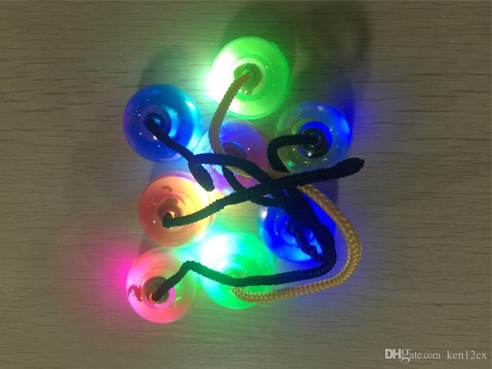 Светодиодные шариковые игрушки Yoyo с подсветкой Yoyo Светящиеся шарики для экстремальных движений Yo-Yo Spinner Антистрессовые игрушки