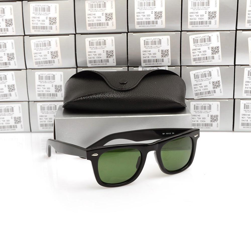 New UV400 protection Sunglasses High Quality Plank black Sunglasses glass Lens black glasses beach sunglasses Designer sun glasses With LOGO