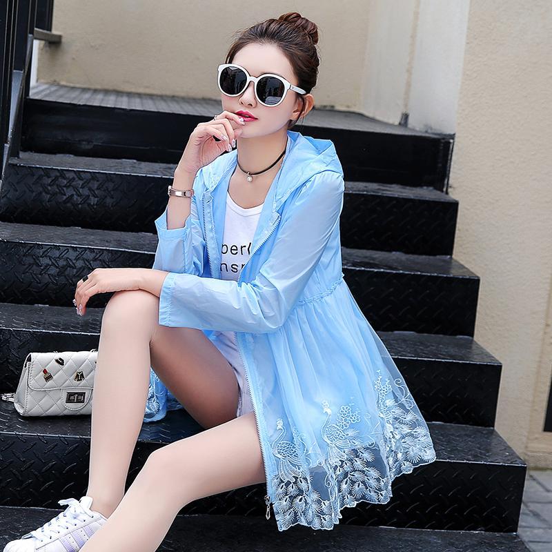 a10137fd8 Compre Moda UV Proteção Solar Roupas Transparentes De Manga Longa Camisa  Jaqueta Mulheres Praia Desgaste Protetor Solar Jaqueta Casual Camisa  Outwear De ...