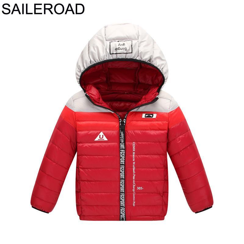 c260b896edf74 SAILEROAD 4 11Years Ultra Light Boys Down Jacket Girls White Down Parkas  90% Down Winter Warm Children Coat Gig Boys Clothes Y18102608 Down Jacket  For ...
