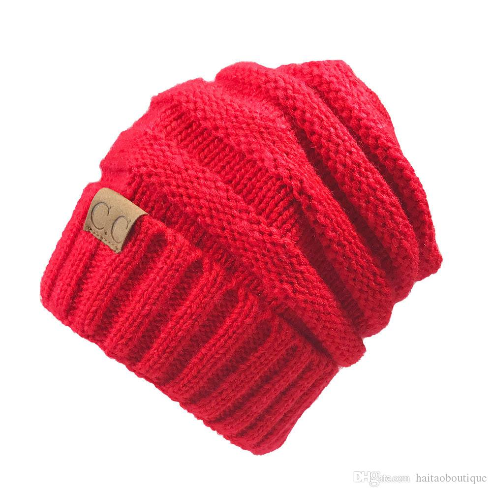 59077d3e Wholesale CC Beanies Winter Hats & Caps Women Knitted Wool Cap Men Casual  Unisex Solid Color Hip Hop Skullies Beanie Warm Hat Crochet Beanie Beanies  For ...