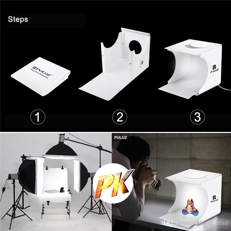 Painéis de LED portátil Caixa de Luz Dobrável Foto Iluminação Studio ShootingTent Box Kit Emart Diffuse Studio Softbox Lightbox