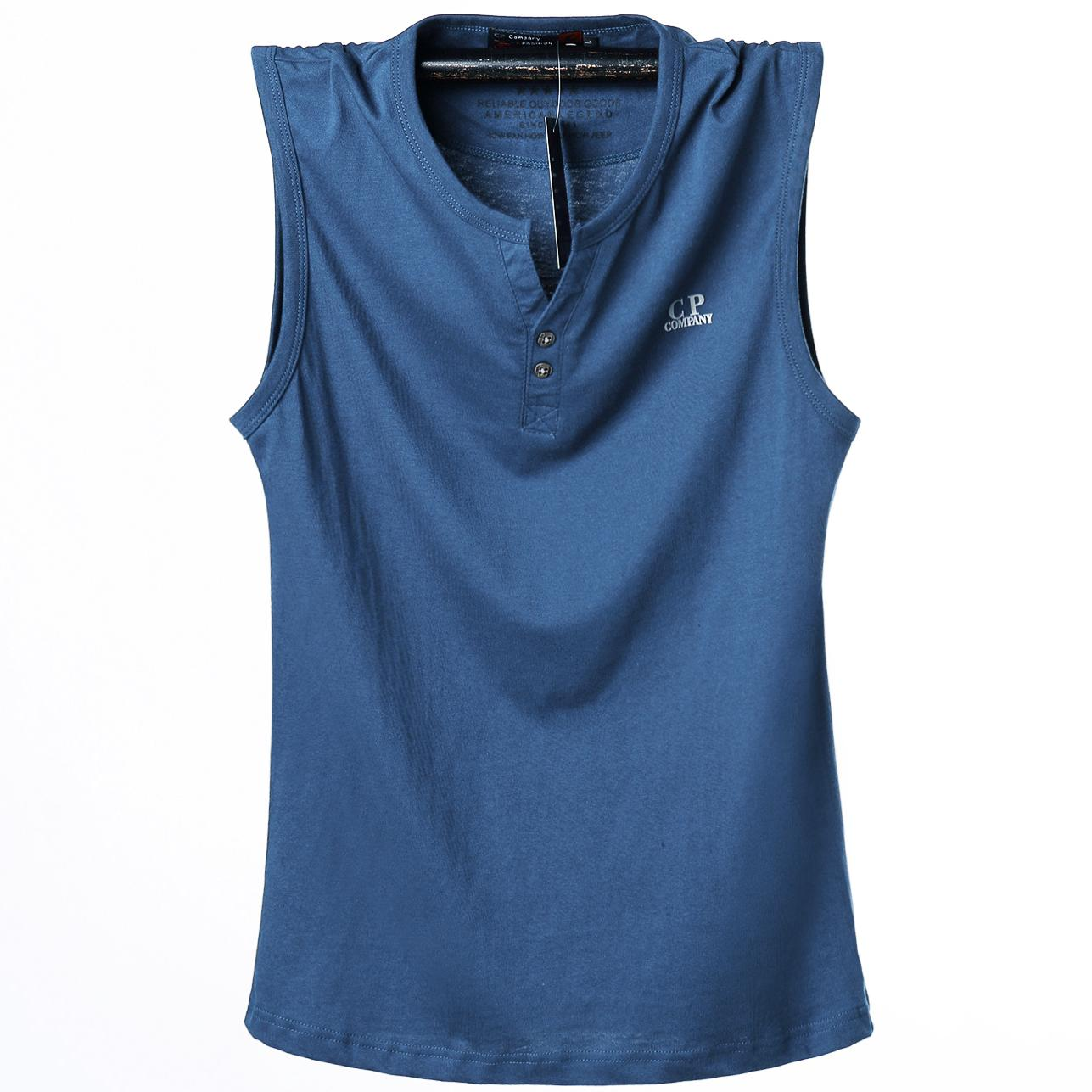 a542189d506630 2019 Summer Tank Tops Cotton Men  S Plus Size Vest Breathable Solid  Sleeveless Fitness Men Vest Big And Tall Male L 6xl Blue Gray From  Clothingdh