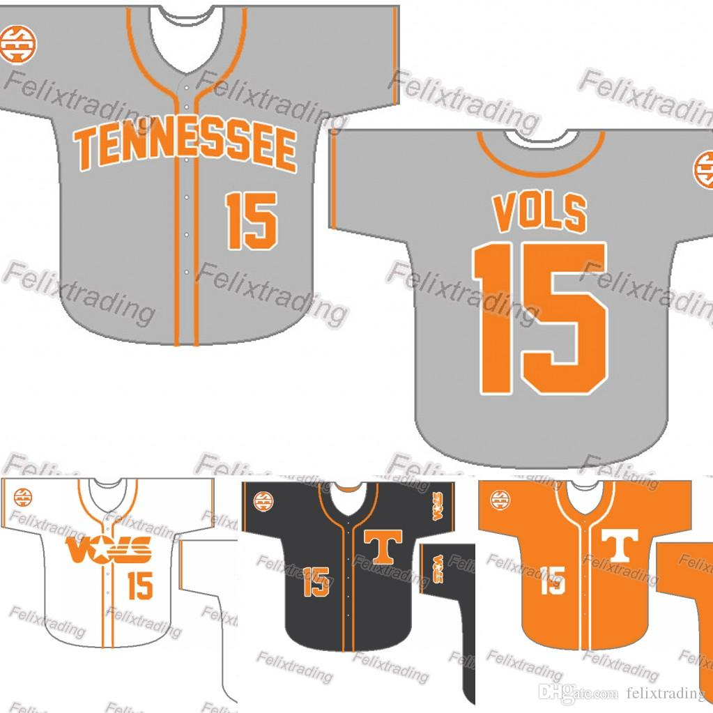 the best attitude dce06 3e824 Custom Tennessee Volunteers Baseball Jersey Women Youth Men White All  Stitched Baseball Jerseys Fast Free Shipping