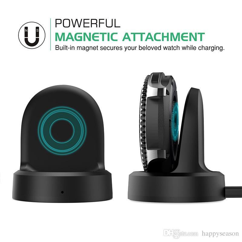 무선 충전 독 크래들 충전기 삼성 기어 S3 클래식 스마트 시계 0.7 메터 USB 케이블 소매 패키지 가열