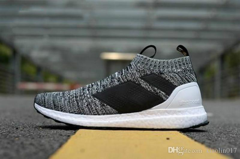 3e4dcd4a2d0b6 03 2018 Casual Shoes Ace 16+ PureControl Ultra Boost Black White Solar  Yellow Men Running Shoes Sneakers Originals FashionRunner Primeknit Indoor  Soccer ...