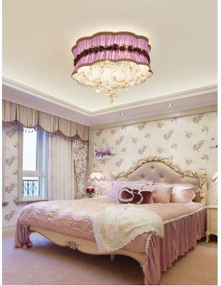 Großhandel Led Deckenleuchte Schlafzimmer Runde Kristall Lampe ...