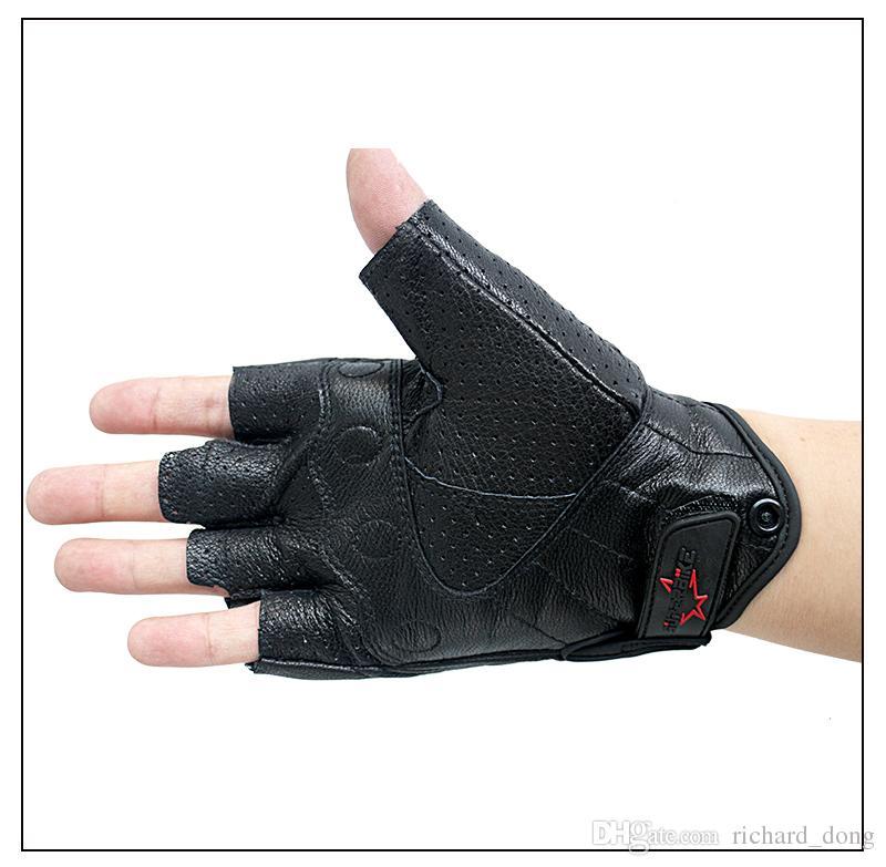 bicicletta airsoft militare paintball pelle di capra 8 // M, nero, GA5122 Vgo 2 paia guanti da moto antivibrazioni mezze dita