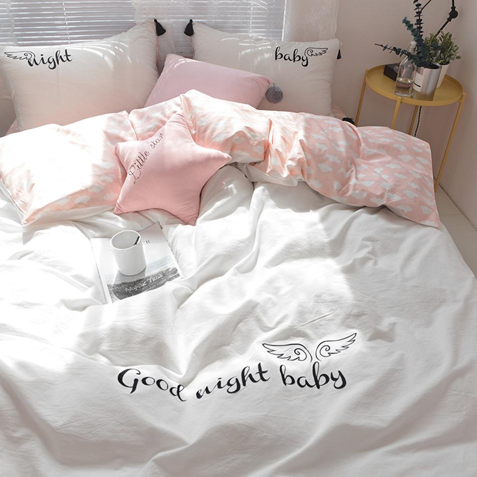 100% Coon Good Night Duvet Cover Set Twin Queen King Gilrs Soft