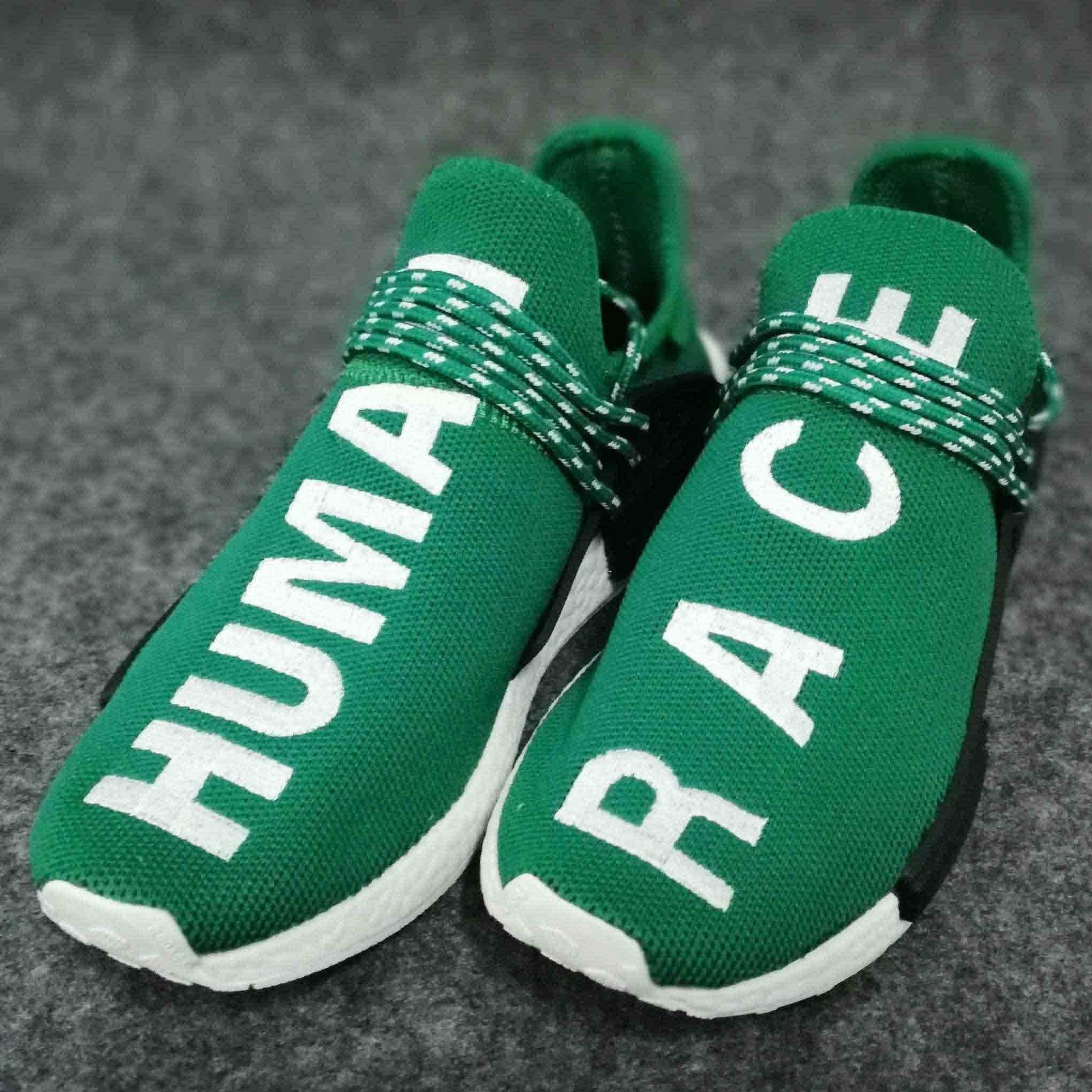 d983a21b13 2019 2018 New Color Human Race Factory Real Yellow Red Green Black Orange  Men Women Pharrell Williams X Human Race Damping Running Shoes From  Muxin2018