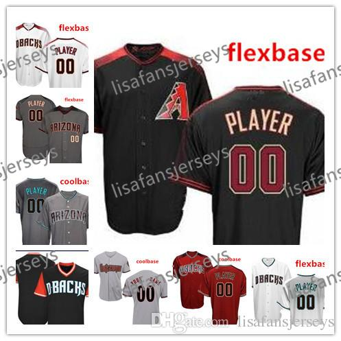 meet 77e73 3b127 Custom Embroidered Jerseys Paul Goldschmidt Curt Schilling Mens Womens  Youth Home Away Road Stitched Personalized Baseball Jerseys