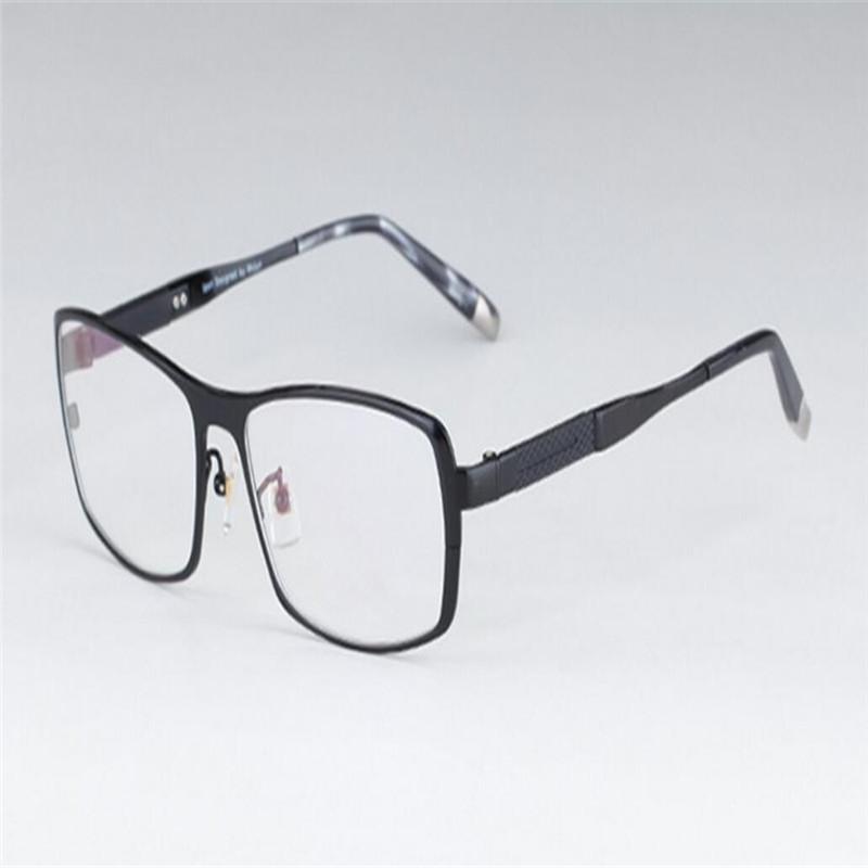 Men's Eyewear Frames Pure Titanium Business Unisex Fashion Full Rim Myopia Eyeglasses Goggle Black Silver Clear Lens Optical Eyewear Brand Glasses At All Costs Men's Glasses