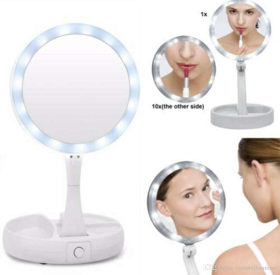 New My Fold Away Led Makeup Mirror Double Sided Rotation