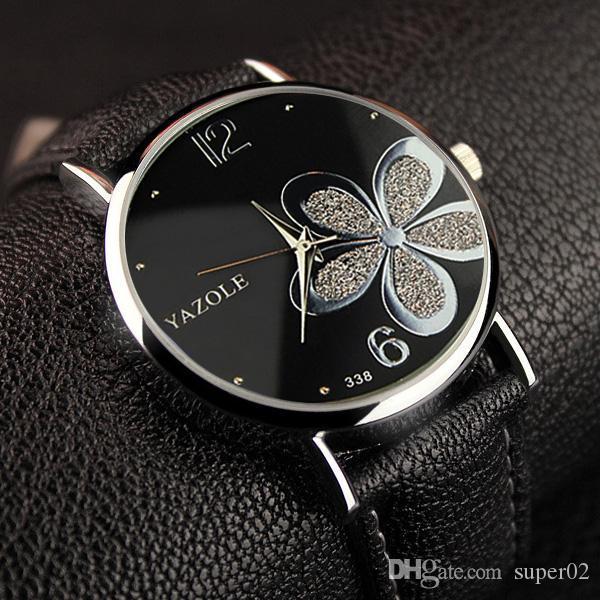 145f125aa9c Compre Yazole Flor Quartz Watch Mulheres Relógios 2017 Marca De Moda De  Luxo Relógio Feminino Relógio De Pulso Senhoras Montre Femme Relogio  Feminino De ...