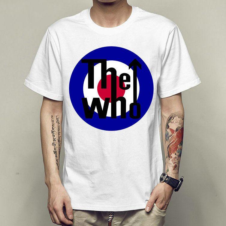 pretty nice ec091 ba248 The who t shirt Music star short sleeve gown Rock band tees Unisex clothing  Quality modal Tshirt