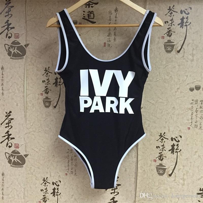 Woman Swimsuit Tighten Lady Swimwear Letter Prints One Piece Suits Femme Bikini Chinlon Black Triangle Waterproof Hot Sale 24xk V