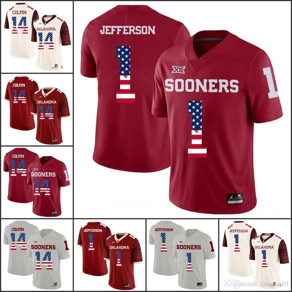 ff0e514f89b 2019 National Flag Oklahoma Sooners College Football NCAA Kyler Murray Baker  Mayfield Sam Bradford Adrian Peterson Samaje Perine Brian Jersey From ...