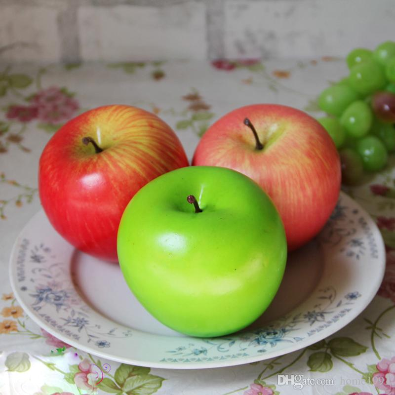 New Red Green Apple Model Artificial Fruits Simulation Apple Home Decor Wedding Party Decorations Crafts Photography Props