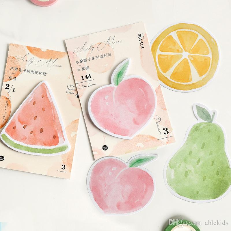 Kawaii Unicorn Fruits Memo Pads Cute Sticky Notes Pads For Kids Girls Gifts Back To School Office Supplies Korean Stationery Be Novel In Design Notebooks & Writing Pads