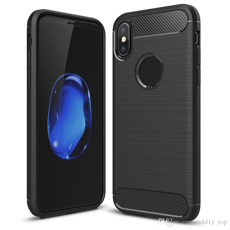 Rugged Armor with Anti Shock Absorption Carbon Fiber Design Case for iphone X 8G 7 PLUS 6S PLUS
