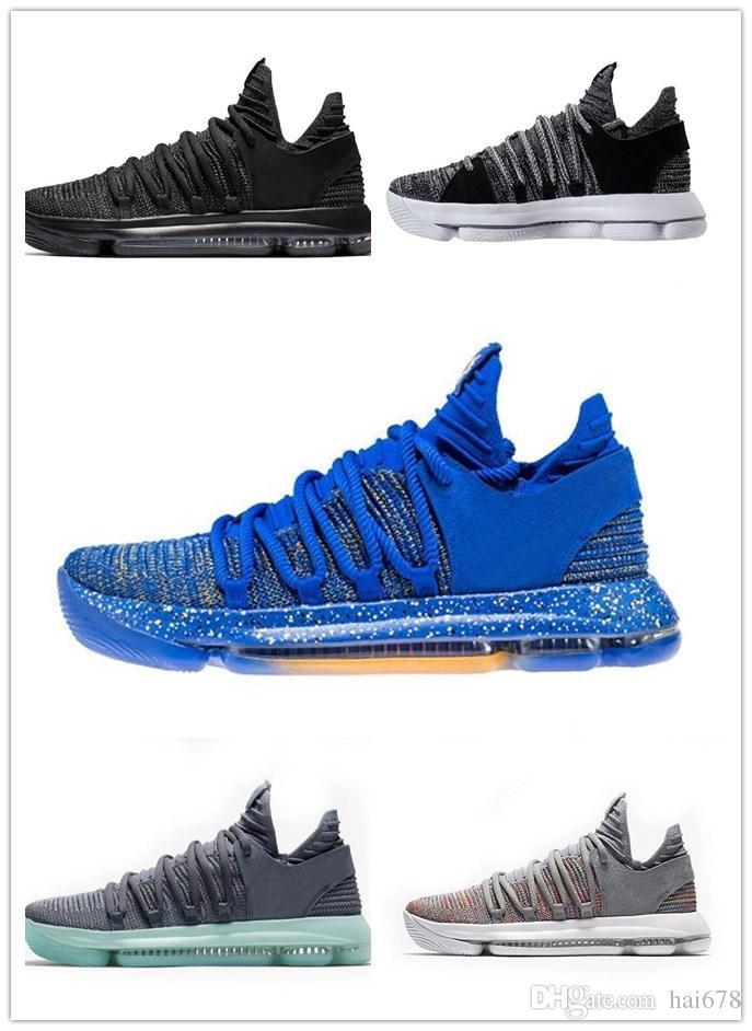 0940529f238 france nike kd 9 bhm 06476 0d06d  new style new zoom kd 10 anniversary pe  bhm oreo triple black men basketball shoes kd