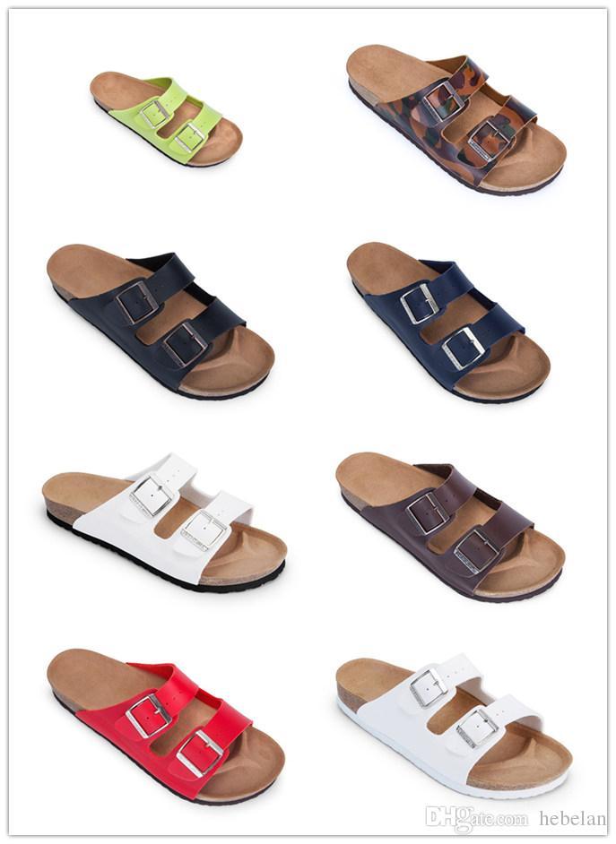 Acquista New Famous Brand Colorful Arizona Uomo Brik Flat Scrap Heel  Sandali Casual In Vera Pelle Con Fibbia Moda Estate Spiaggia Scarpe Cork A   62.73 Dal ... 1618755e84f