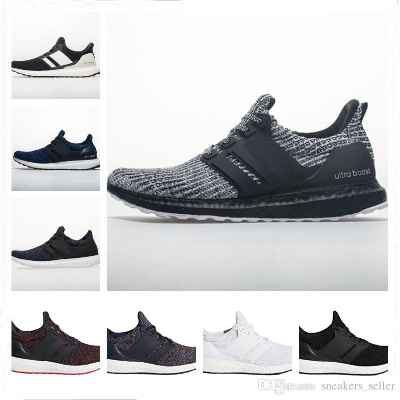 new concept 26b0e 86d1a Ultra Boost 4.0 Running Shoes Show Your Stripes Breast Cancer Awareness CNY  Black Multi Color Men Womens Real Boost Sneakers Size 36 48 Running Shoes  For ...