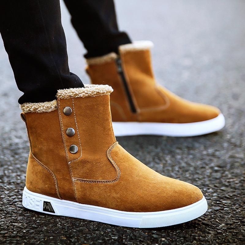 937e7136 Compre Los Zapatos 2018 De Los Hombres Espesaron Con Las Botas De Nieve  Altas De La Marea Del Invierno Del Algodón De La Marea, La Entrega Libre  Del ...
