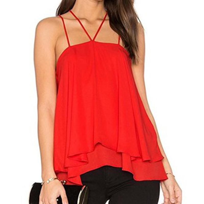 5208a1fd985f Sleeveless Summer Autumn Halter Women T Shirt Sexy Casual Solid Ladies Tees  Shirt Camis Tops Plus Size 2019 New Black Red Cool T Shirt Sites White  Designer ...