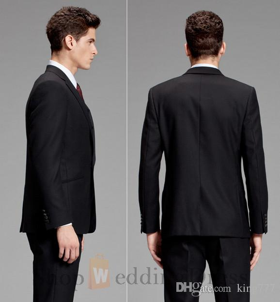 Custom Made ! Notch Lapel collar Trim Fit One Buttons Three-piece Suit Best Men Suits for Weddings Jacket+Pants+vest