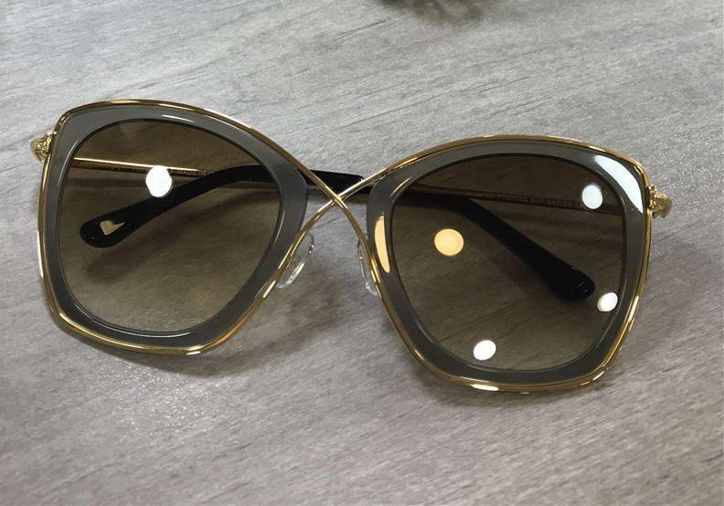 f0e19aa1eff Women Gold India Sunglasses In Dark Brown Roviex FT0605 Sun Glasses New  With Box Round Glasses Designer Glasses From Jenlsky