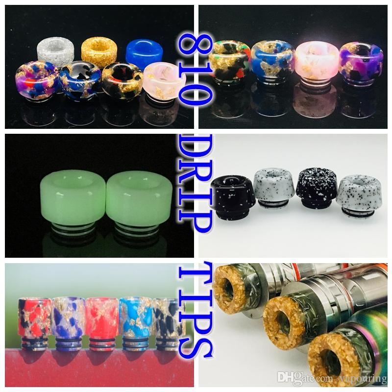 Electronic Cigarette Accessories Authentic Vapesoon 810 Resin Drip Tip Zebra Style 3 Colors For Tfv8 Big Baby Tfv12 Prince Ijust 3 Kit Etc