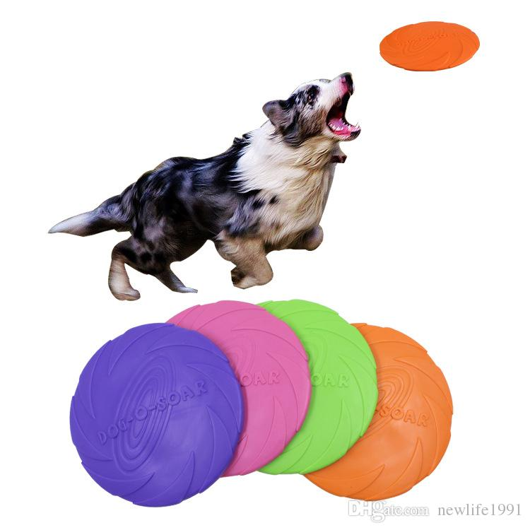 Beautiful New Large Dog Toy Trainning Puppy Toy Rubber Fetch Flying Disc Frisby Pet Supplies Dog Accessories Pet Molar Toy Pet Products Dog Toys