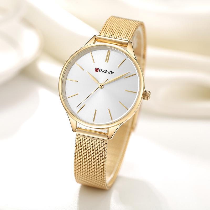 6ed90c8231a1 Compre CURREN Relojes De Pulsera De Lujo Para Mujer Reloj Relogio Feminino  Reloj Para Mujer Montre Femme Reloj De Cuarzo Para Damas Para Amantes  Y18102310 A ...