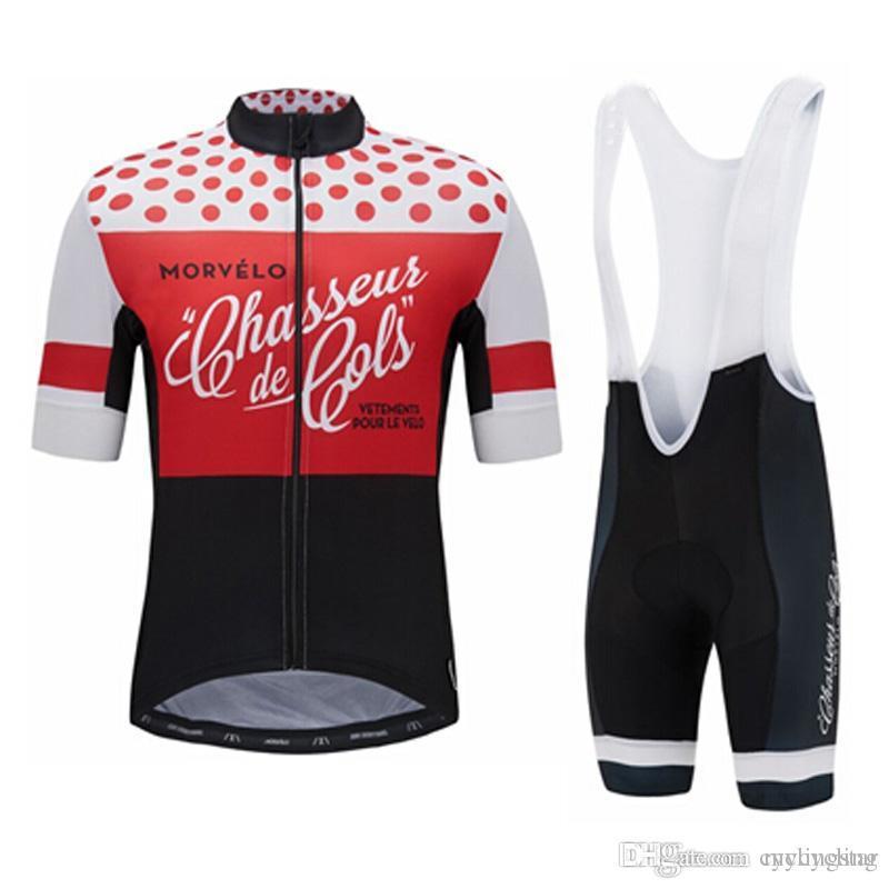 2018 MORVELO Cycling Short Sleeves Jersey Bib Shorts Sleeveless Vest ... 6a45d06a3
