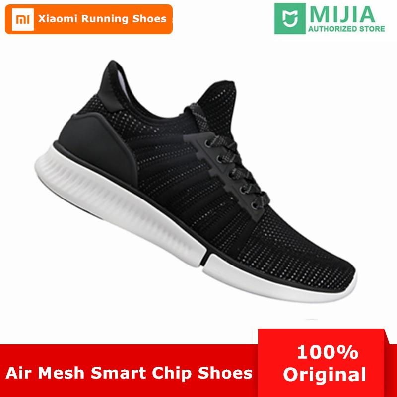 fe33058cb1bbe 2019 Xiaomi Mijia Smart Men Running Shoes Outdoor Sport Mi Male Sneakers  Breathable Air Mesh Zapatillas Mujer Support Smart Chipset From Rainlnday