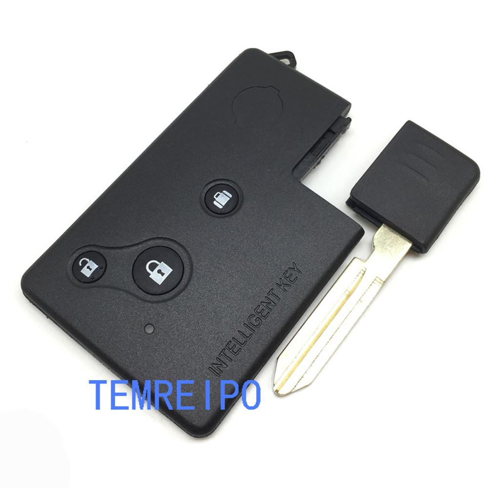 For Nissan Teana Key Case Shell 3 Buttons Smart Key Card With Uncut