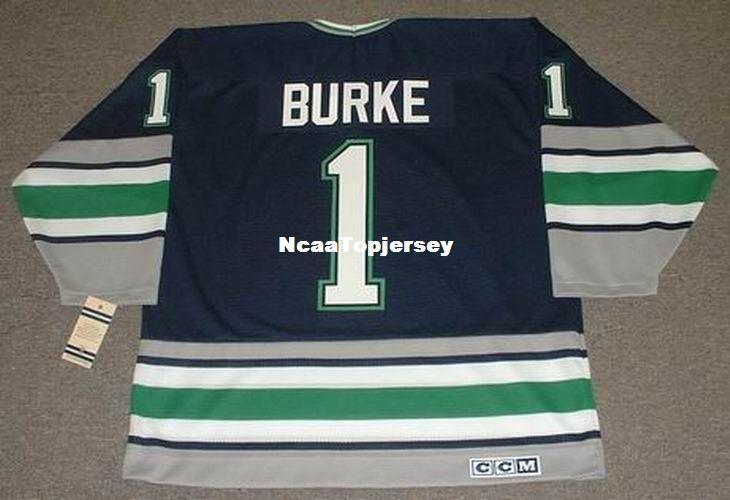 2019 Custom Mens Jerseys SEAN BURKE Hartford Whalers 1993 CCM Vintage Cheap  Retro Hockey Jersey From Ncaatopjersey 50f36572d